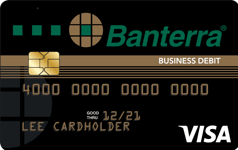 Banterra Bank black Business debit card artwork