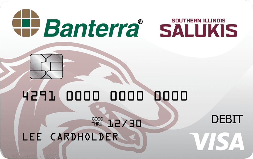 Banterra Bank SIU debit card artwork
